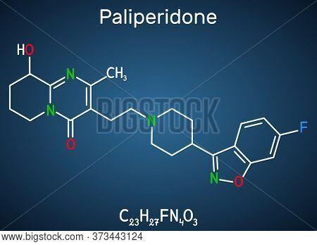 Paliperidone, 9-hydroxyrisperidone Molecule. It Is Atypical Antipsychotic Agent That Is Used In The