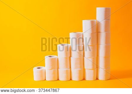 Shedule Toilet Paper Rolls Isolated On Yellow