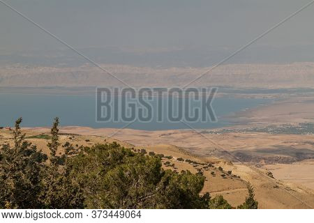 Landscape Of The Holy Land And The Dead Sea As Viewed From The Mount Nebo, Jordan