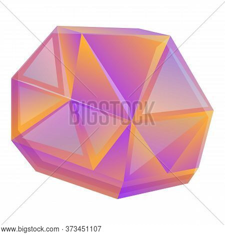 Crystal Gem Icon. Cartoon Of Crystal Gem Vector Icon For Web Design Isolated On White Background