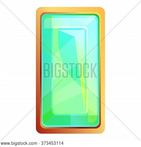 Royal Green Gem Icon. Cartoon Of Royal Green Gem Vector Icon For Web Design Isolated On White Backgr