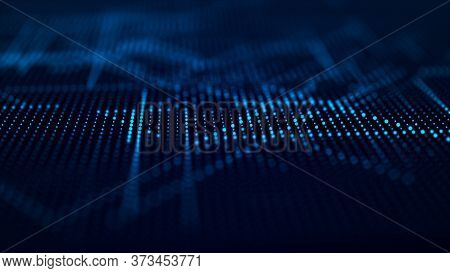 Abstract Digital Background. Science Background. Tech Background. Matrix. Binary Code. 3d Rendering.