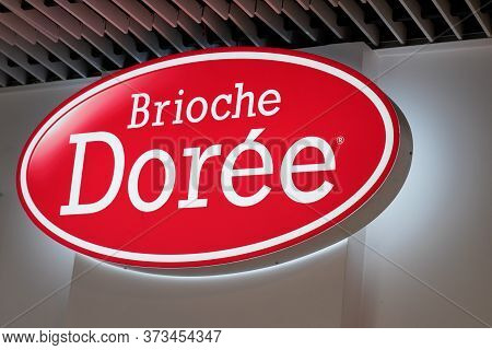 Bordeaux , Aquitaine / France - 11 25 2019 : Brioche Doree Logo Sign Store Bakery Shop Brioche Dorée