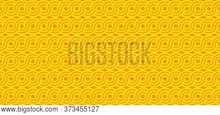 Pasta Seamless Geometric Abstract Pattern For Packaging, Wrapping Paper. Spaghetti Or Noodles Backgr