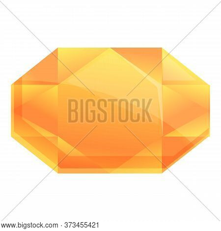 Treasure Gem Icon. Cartoon Of Treasure Gem Vector Icon For Web Design Isolated On White Background