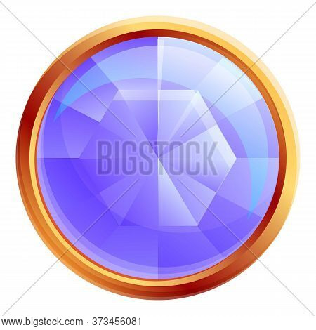 Decorative Gemstone Icon. Cartoon Of Decorative Gemstone Vector Icon For Web Design Isolated On Whit