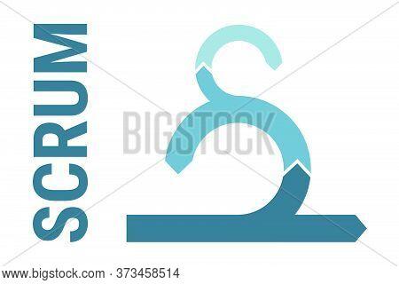 Scrum Software Development Icon, Scrum Sprint Scheme Framework. Scrum Methodology Process, Agile Pro