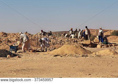 El Kurru, Sahara Desert / Sudan - 21 Feb 2017: Ancient Pharaoh's Tomb In El Kurru, Sudan