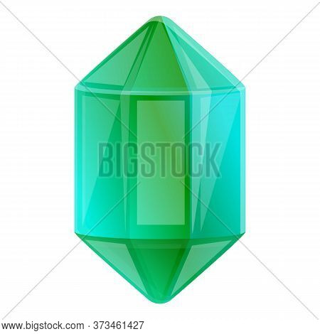 Shiny Gemstone Icon. Cartoon Of Shiny Gemstone Vector Icon For Web Design Isolated On White Backgrou