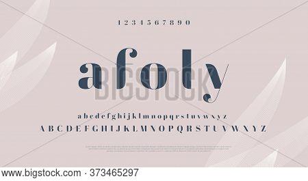 Elegant Stylish Font. Modern Serif Typeface. English Alphabet. Set Of Letters - Uppercase, Lowercase