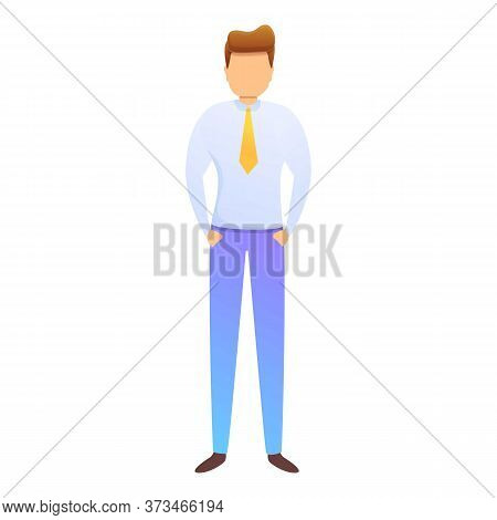 Office Purchasing Manager Icon. Cartoon Of Office Purchasing Manager Vector Icon For Web Design Isol