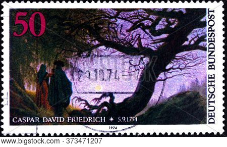 02 08 2020 Divnoe Stavropol Territory Russia Postage Stamp Germany 1974 The 200th Anniversary Of The