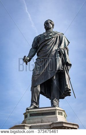 Florence, Italy - October 2019: Monument To General Manfredo Fanti, Leader In Battles For Italian In