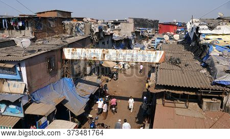 Mumbai, India - December 25, 2017: Favelas Of Mumbai.