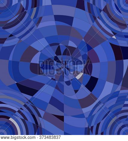 Background Image Abstract Ornament Circles Blue And Purple