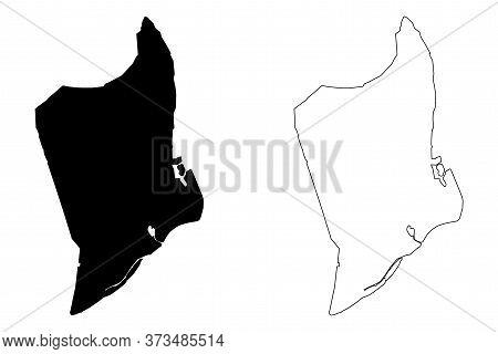 Da Nang City (socialist Republic Of Vietnam, South Central Coast Region) Map Vector Illustration, Sc