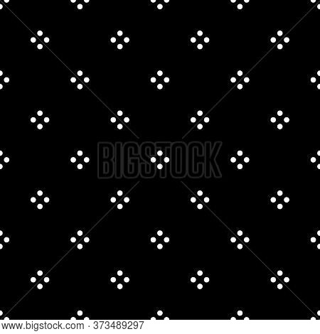 Seamless Circles Pattern. Polka Dot Ornament. Dots Image. Tribal Backdrop. Rounds Background. Dotted