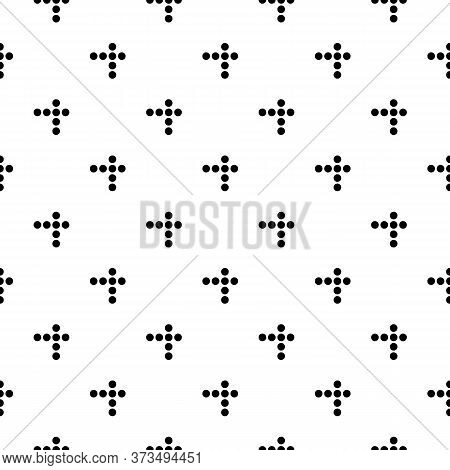 Circles Seamless Ornament. Dots Pattern. Tribal Image. Polka Dot Backdrop. Rounds Background. Dotted