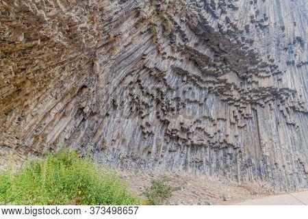 Basalt Column Formation Called Symphony Of The Stones Along Garni Gorge, Armenia