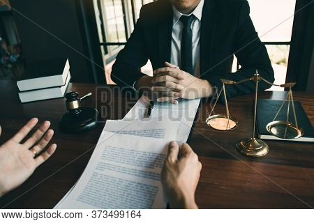 Man Judge Is Currently Advising Clients On Their Requests For Legal Proceedings And Legal Advice.