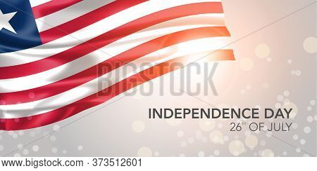 Liberia Happy Independence Day Vector Banner, Greeting Card