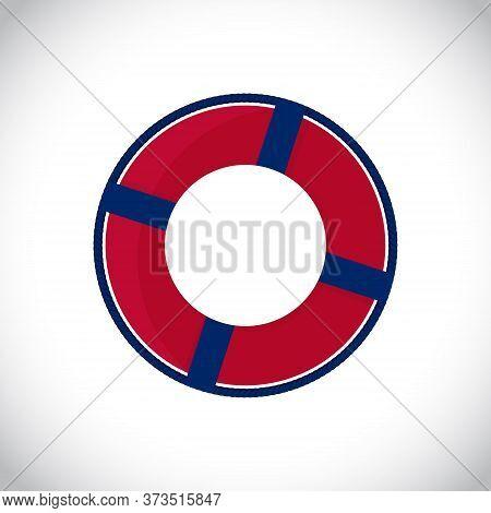 Isolated Lflat Ifebuoy Vector Ring. Lifesaver Icon. Safety Emergency Buoy. Vector Illustration On Wh