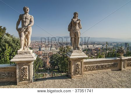 Aerial View Of Florence From Bardini Gardens