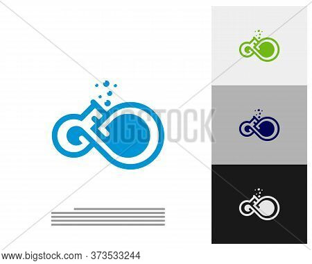 Infinity Labs Logo Vector Template, Creative Infinity Logo Design Concept