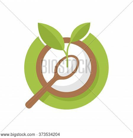 Starch Icon - Natural Organic Cooking Bakery Ingredient - Isolated Vector Stamp