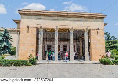 Gori, Georgia - July 15, 2017: Stalin Birthouse Located In A Pavilion In Gori Town, Georgia.