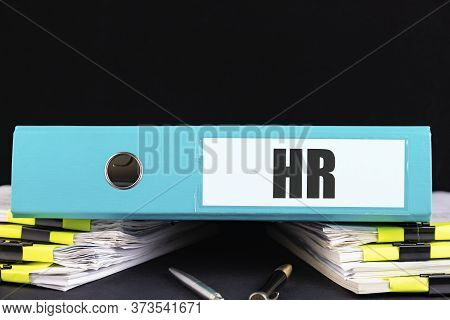 Hr, Human Resources Department, Hiring A New Job Or Position In The Company Concept, Folder With The