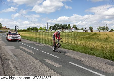 Bourgoin-jallieu, France - 07, May, 2017: The Belgian Cyclist Jelle Vanendert Of Lotto-soudal Team R