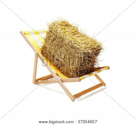 Straw On A Sun Lounger