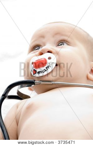 Cheerful Child With Stethoscope