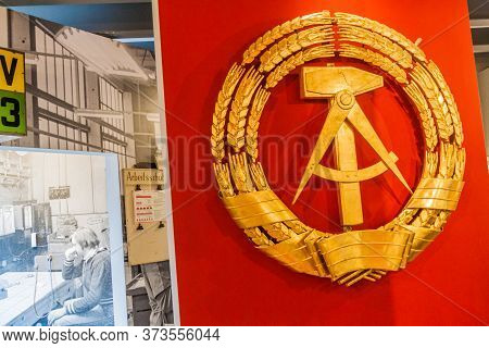 Berlin, Germany - August 12, 2017: Exhibit Of The Everyday Life In The Gdr Museum In Kulturbrauerei,
