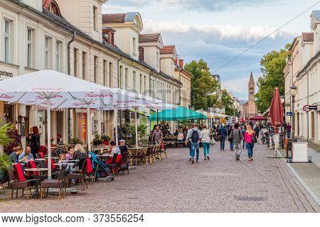 Potsdam, Germany - August 14, 2017: Brandenburger Street In Potsdam, Germany