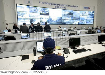 Salvador, Bahia - Brazil - July 18, 2016: View Of The Operations And Intelligence Center Of The Bahi