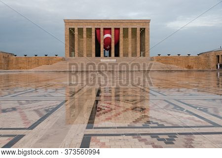 Ankara, Turkey - May 21, 2016: Anitkabir Is The Mausoleum Of The Founder Of Turkish Republic, Mustaf