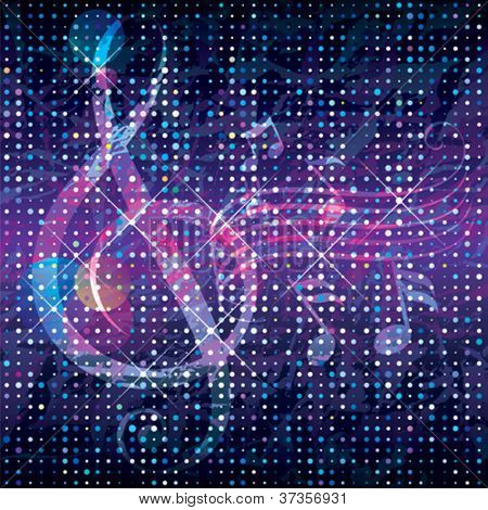 Abstract music concept textured background.