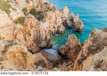 Rocky Cliffs At Ponta Da Piedade Near Lagos, Portugal