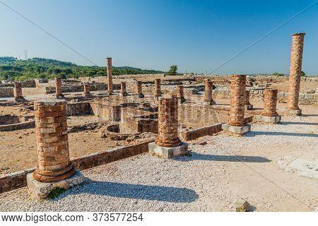 View Of Conimbriga Roman Ruins In Portugal