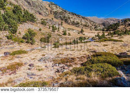 Landscape Of Parc Natural Comunal De Les Valls Del Comapedrosa National Park In Andorra