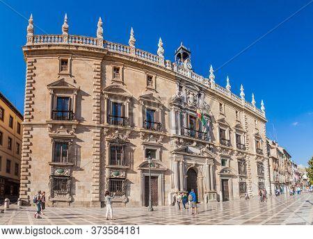 Granada, Spain - November 1, 2017: High Court Of Justice Of Andalusia At Plaza De Santa Ana Square I