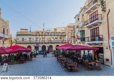 Victoria, Malta - November 8, 2017: St. Georges Square In Victoria, Gozo Island, Malta