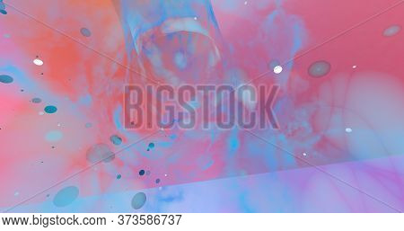 Abstract Background Made By Pastel Color And Wormholes. 3d Illustration.