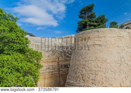 Fortification Walls Of Valletta, Capital Of Malta