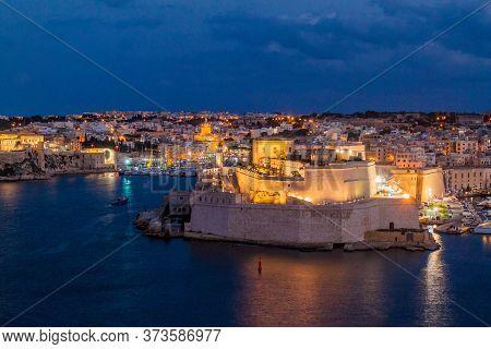 Fort St. Angelo In Birgu Town, Malta