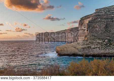 Cliffs At The Xlendi Bay On The Island Of Gozo, Malta