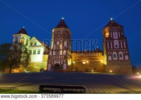 Evening At The Old Mir Castle. Mir, Belarus