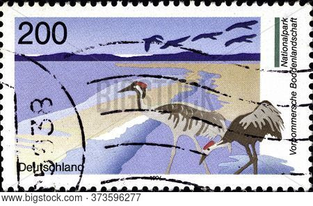 02 10 2020 Divnoe Stavropol Territory Russia The Postage Stamp Germany 1996 German Parks Of Nature W